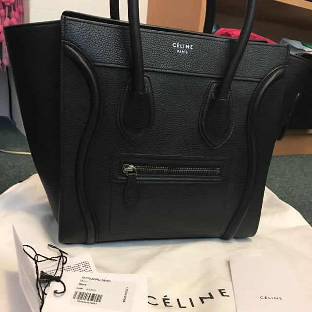 Celine Micro Luggage Pebbled Leather