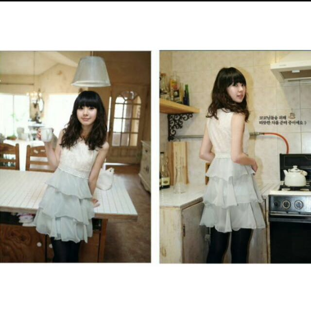Cherrykoko雪紡蕾絲洋裝