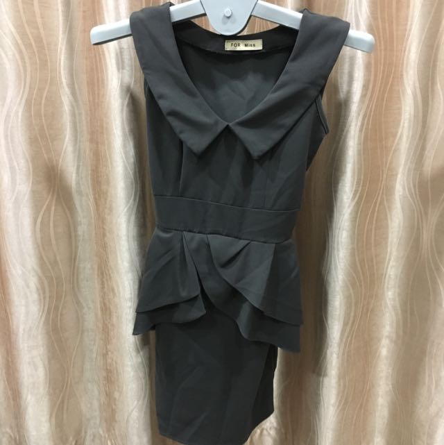 Dark Grey Dress