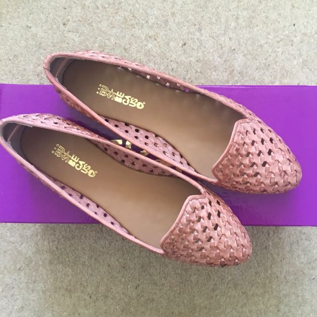 Dark Rose Leather Loafers