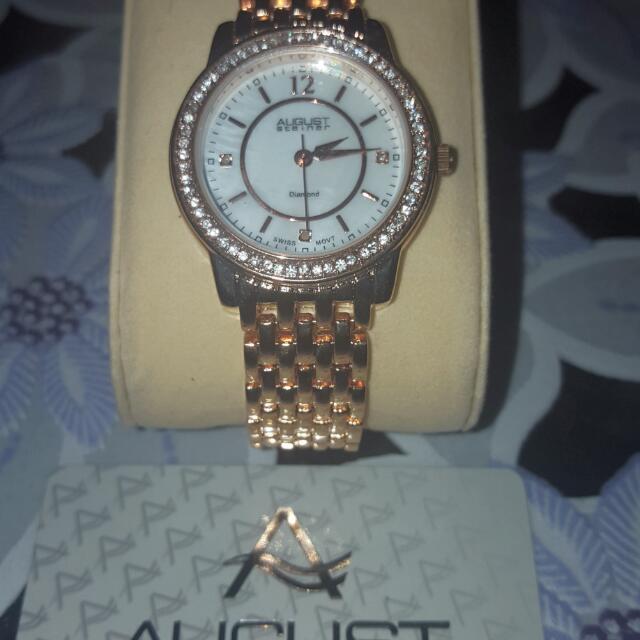 Diamond Dial August Steiner Watch