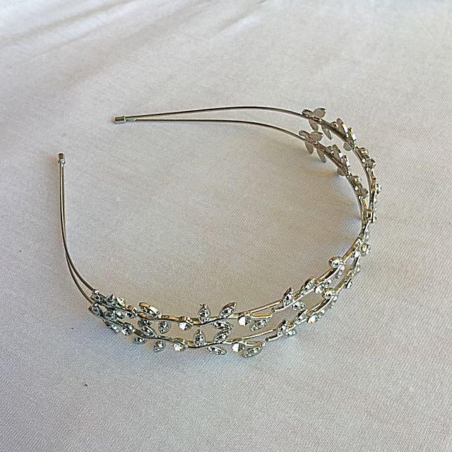 Diamond Jewelled Leaf Headband