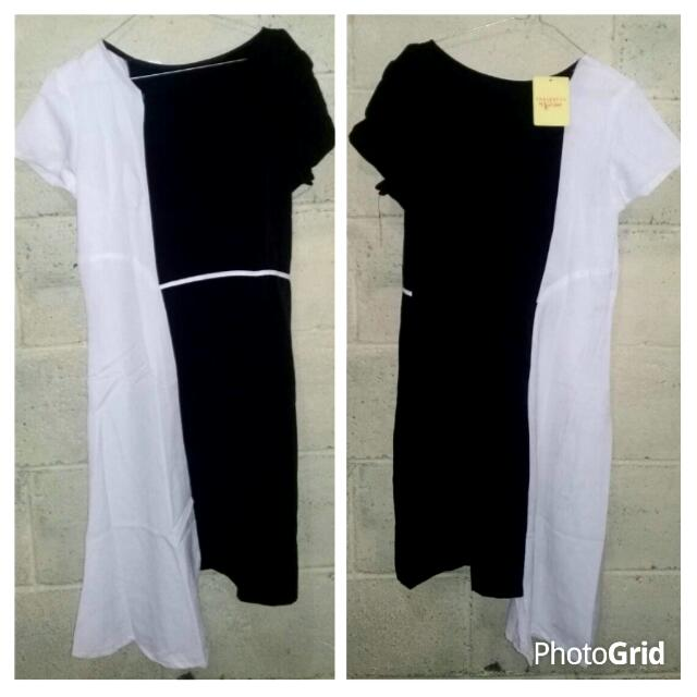 Dress Hitam Putih Murah. 39.000rb BARU