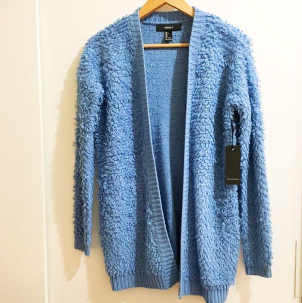 Forever21水藍色毛線外套