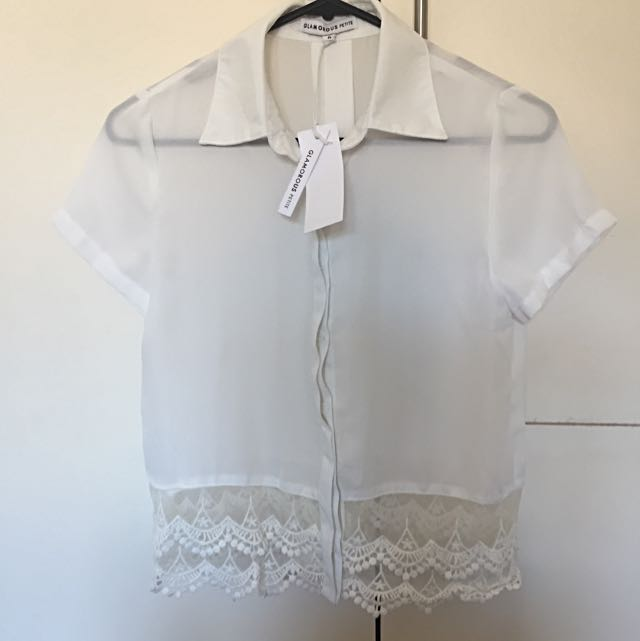 Glamourous Petite White Shirt - tag still attached