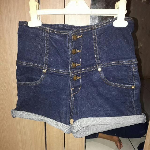 Highwaist Jeans Button