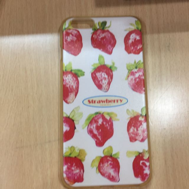 iPhone 6 6s Plus 手機殼 - 軟殼草莓