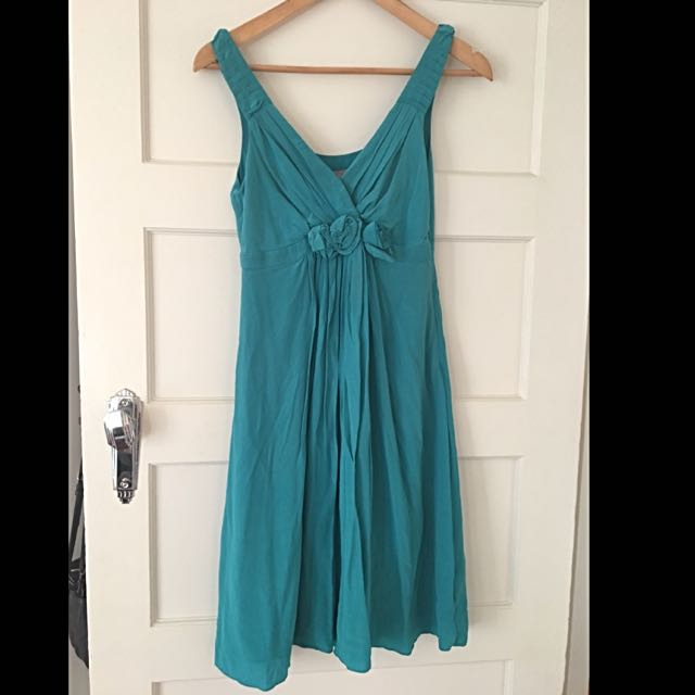 Jigsaw Green Silk Dress - Size 8