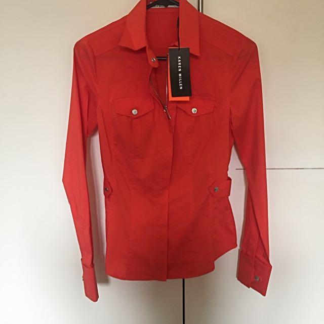 Karen Millen Zip Shirt - tags attached