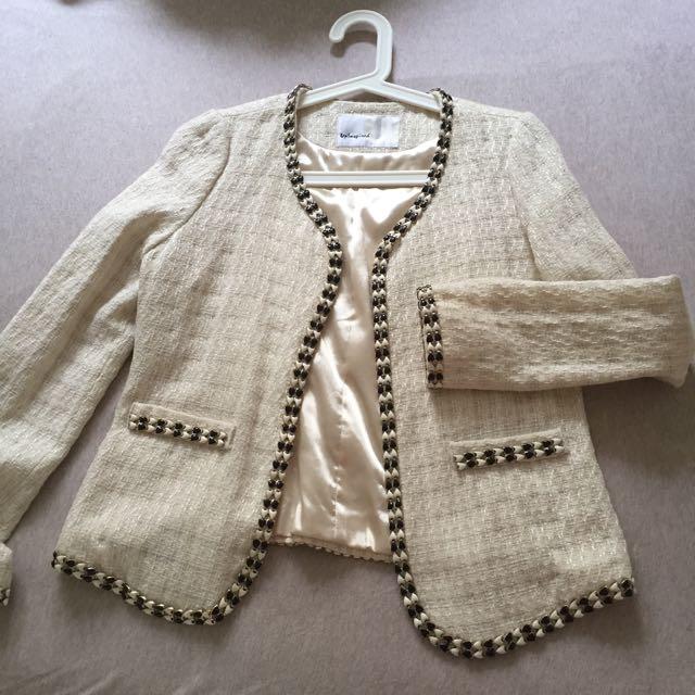 Korean Tweed Jacket Coat