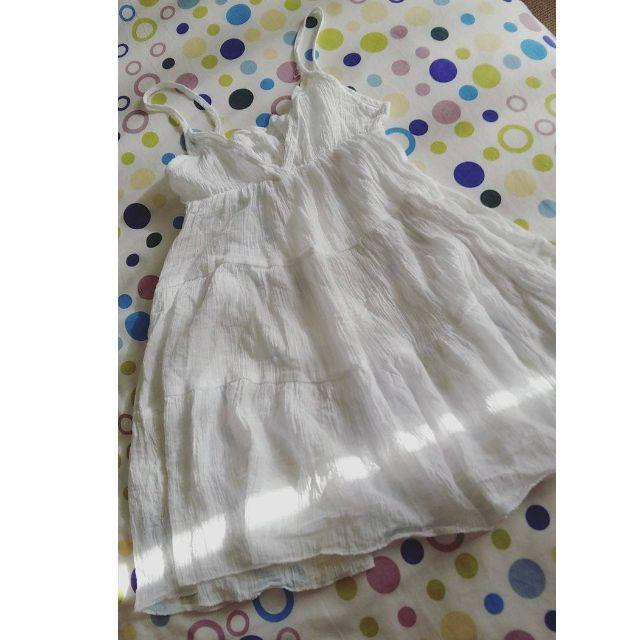 Korean White Airy Dress