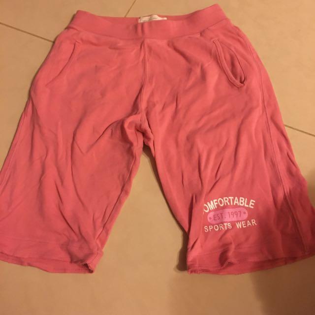 Lativ粉色女童140公分休閒褲