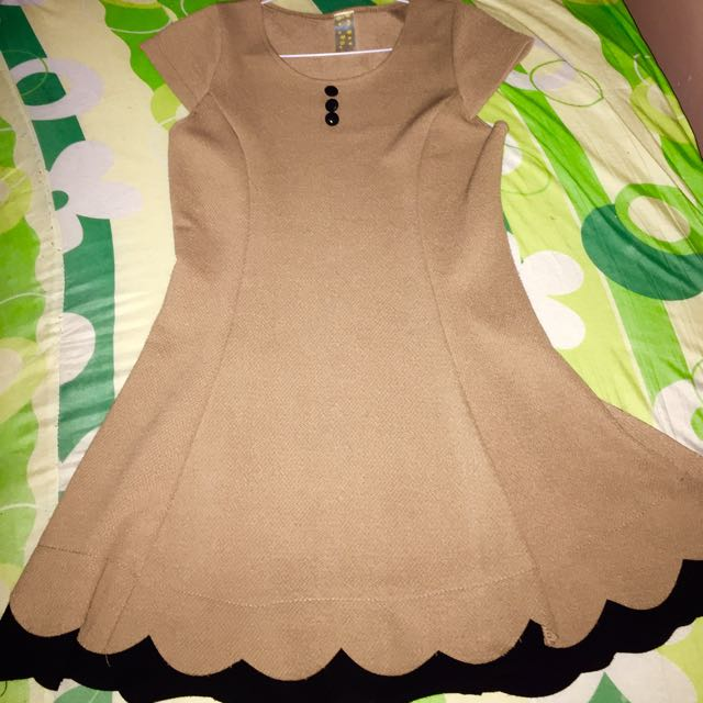 light brown mini dress