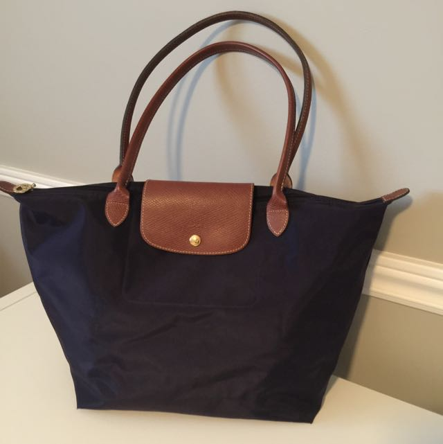 Longchamp Le Pliage Large Tote Bag - Bilberry Purple