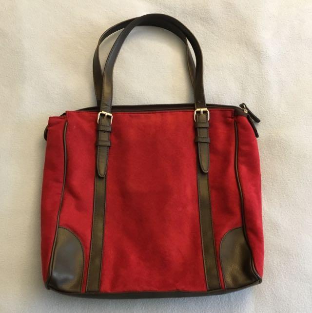 PRICE REDUCED -> Maroon - Brown Bag
