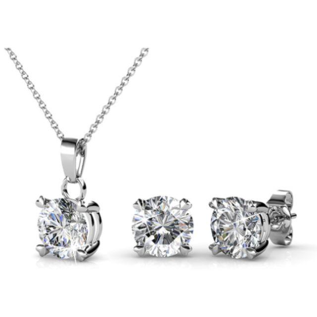 Matching Classic Elegance Set Ft Swarovski Crystals