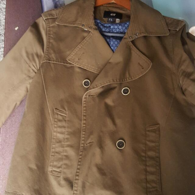 Mens Short Trench Coat