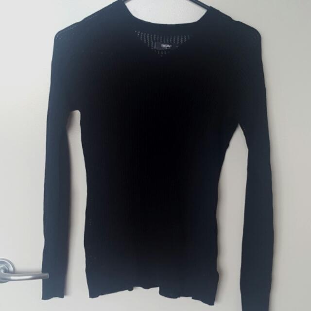 Mossimo Crochet Black Jumper