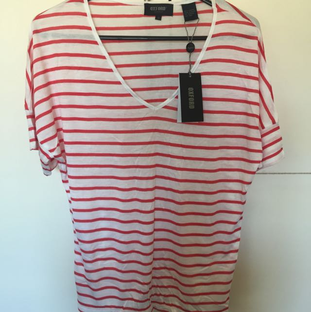 Oxford Striped Tee - Tag still attached