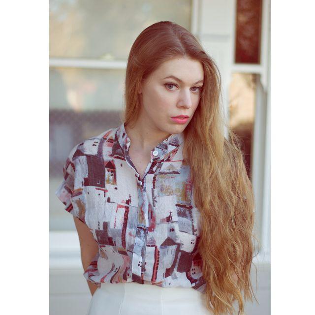 Patterned short sleeve shirt