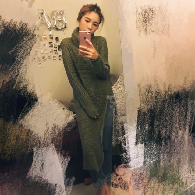 Pazzo墨綠色連身針織上衣