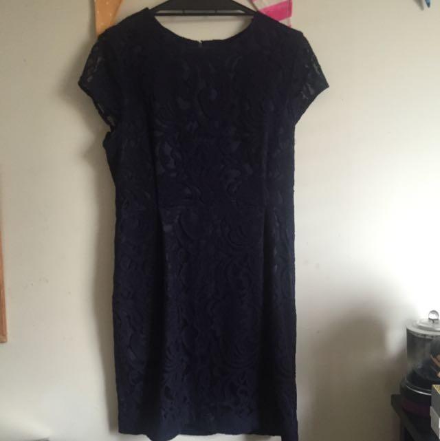 PORTMANS Navy Lace Formal Dress Size 12