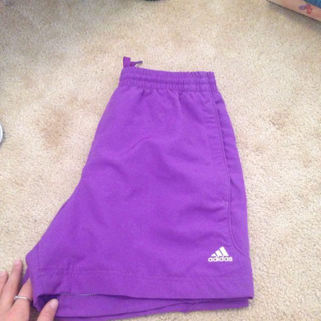 purple adidas shorts // size Small