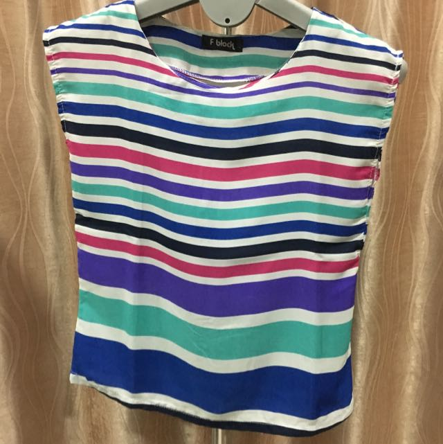 Rainbow Boxy Top