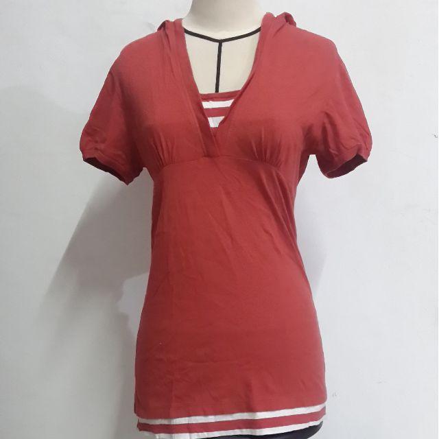 Red Hoodie Top