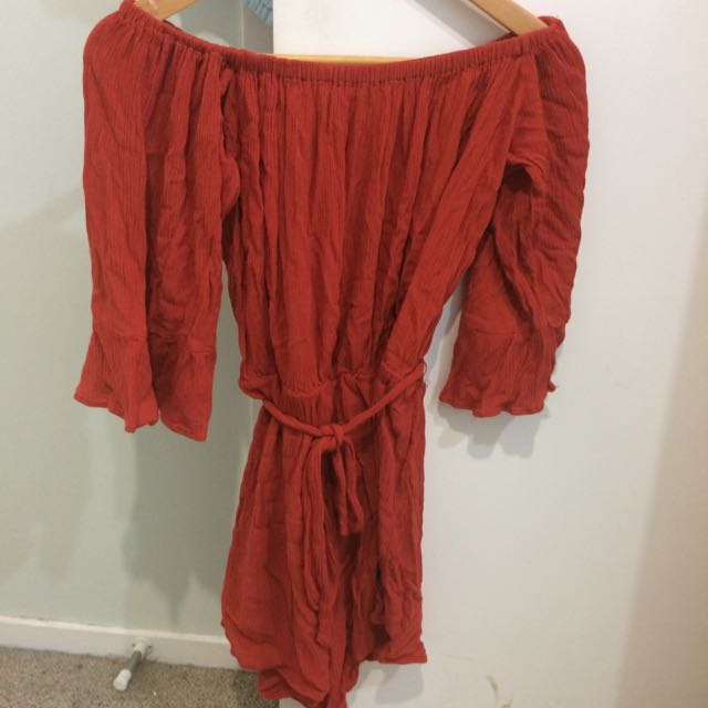 Red Shoulder playsuit