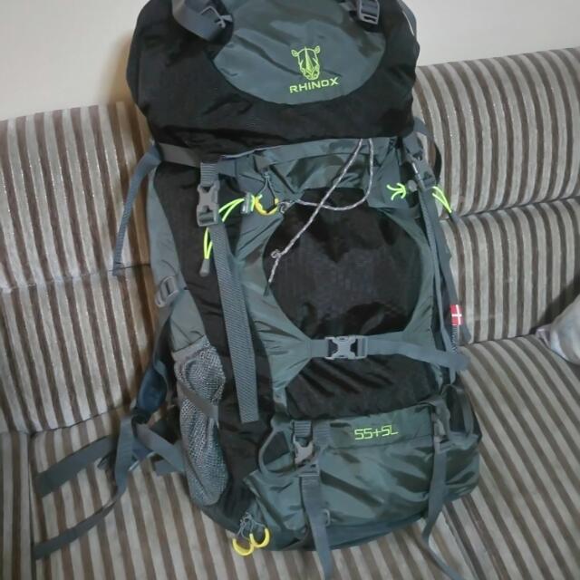 Rhinox Backpack For Hiking 55+5L
