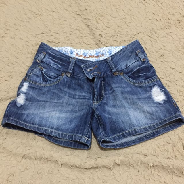 Ripped Jeans Short Pants