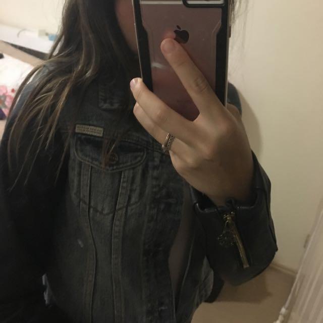 Scotch & Soda leather/ denim jacket