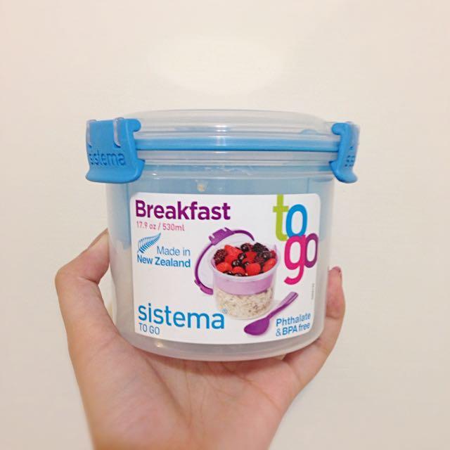 紐西蘭sistema早餐麥片帶著走 雙層保鮮盒