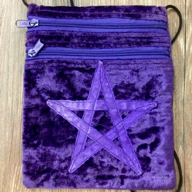 Small Purple Pentagram Bag