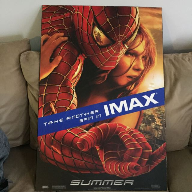 Spiderman 2 IMAX Wooden Photo Hung In Theatre