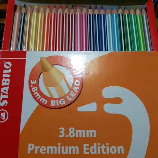 Stabilo 3.8mm Premium Edition Colored Pencils In 24s
