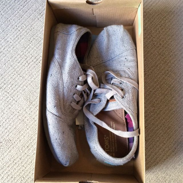 TOMS Grey Canvas Sneakers