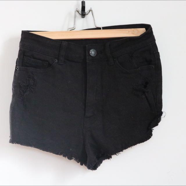 Urban Outfitters Black Denim Shorts