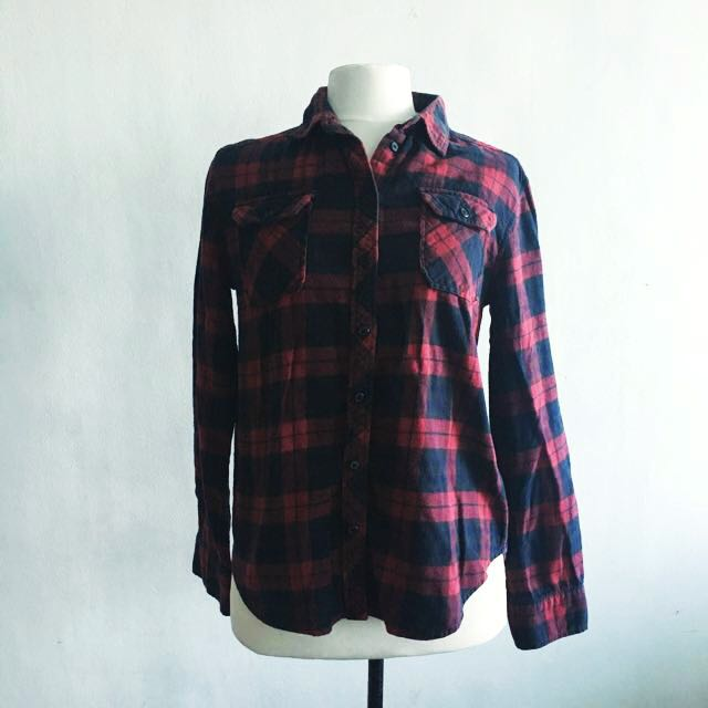 Urban Outfitters Plaid Polo