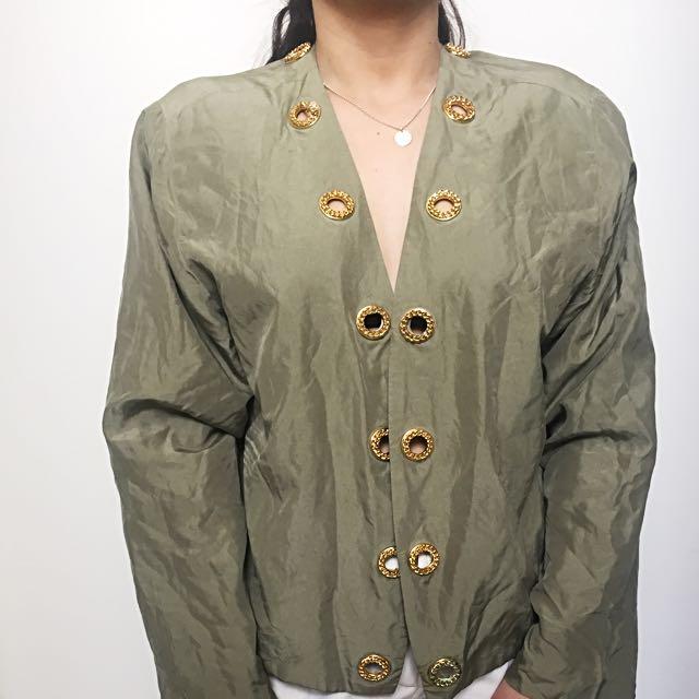 ⚡vintage 80's Silk Shirt ⚡