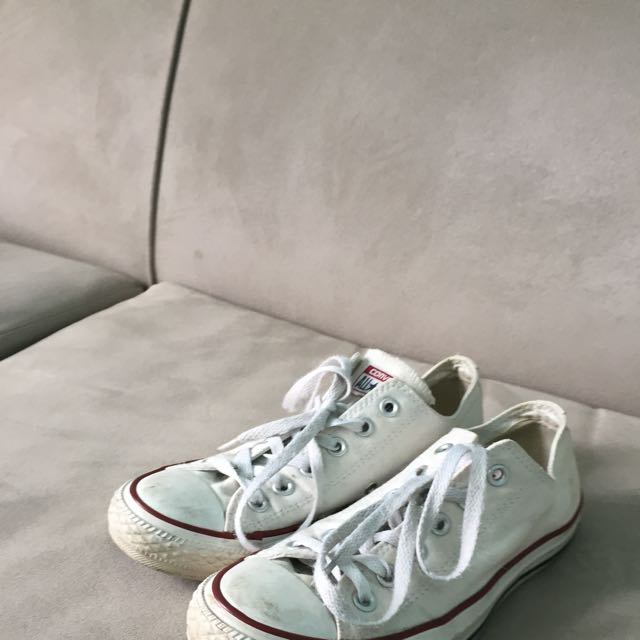 White Low Cut All Star Converse