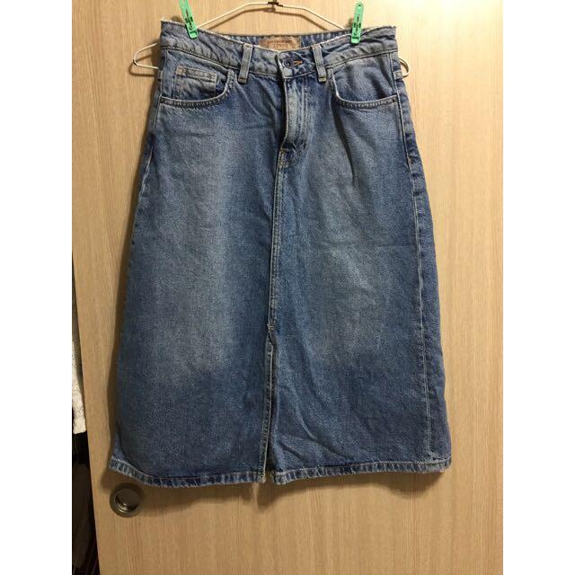 Zara Denim Skirt Size M