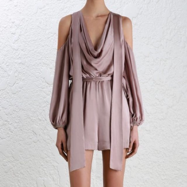 Zimmerman Sueded Billow Playsuit