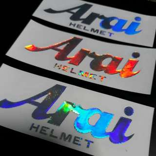 Die-cut Holographic Arai Helmet Sticker