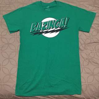 """BN Big Bang Theory Classic """"Bazinga!"""" Tee Shirt"""