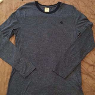 Abercrombie And Fitch Navy Long Sleeve Tee Shirt