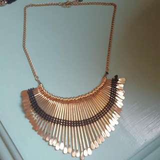 Gold chandelier necklace