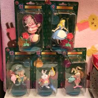 日本絕版愛麗絲夢遊仙境一番賞抽獎聖誕節系列 迪士尼Alice全套收集景品 妙妙貓柴郡貓咧嘴貓 三月兔 瘋帽 時間兔愛莉絲