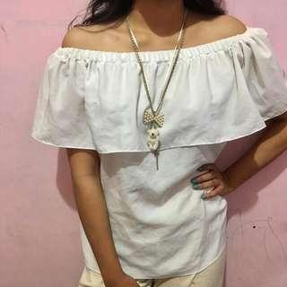 Baju Shabrina Putih